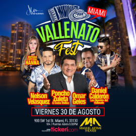 Image for Vallenato Fest Miami con Nelson Velasquez, Daniel Calderon, Poncho Zuleta y Omar Geles POSTPONED DUE TO WEATHER