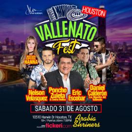 Image for Vallenato Fest Houston con Nelson Velasquez, Poncho Zuleta, Daniel Calderon, Hanna y Eric Escobar