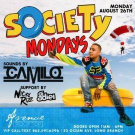Image for Society Mondays DJ Camilo Live At Avenue