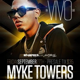 Image for Myke Towers Live In Concert Inside Rumba Room Live 21 +