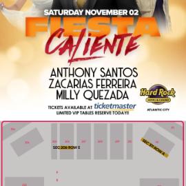 Image for Fiesta Caliente con Anthony Santos, Zacarias Ferreira & Milly Quezada en Atlantic City,NJ