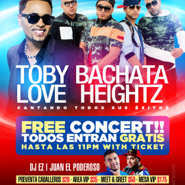 Image for Toby Love & Bachata Heightz live @THE PALACE!!