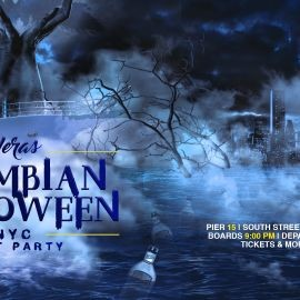 Image for YERAS Colombian Halloween NYC Boat Party Yacht Cruise Around Manhattan