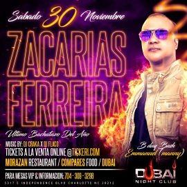 """Image for Zacarias Ferreira """"En Concierto"""" Sabado 30 de Nov 2019 @ Dubai Nightclub"""