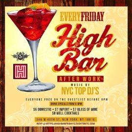 Image for Happy Hour AfterWork Fridays at High Bar NYC