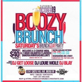 Image for Saturday Boozy Brunch & Day Party