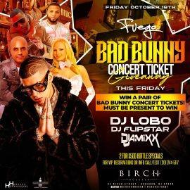 Image for Fuego Fridays Bad Bunny Concert Ticket Giveaway At Birch Hoboken