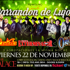 Image for Grupo Rehenes, Exterminador & Los Originales de San Juan!! En The Palace VA