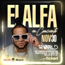 """Image for EL ALFA """"El Animal"""" Usa Tour - Charlotte NC"""