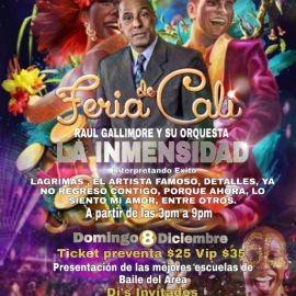 Image for Feria De Cali Raul Gallimore y Su Orquesta La Inmensidad En Elizabeht,NJ