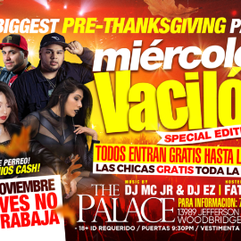 Image for Miercoles de Vacilon! Special Edition Pre-Thanksgiving Party!!