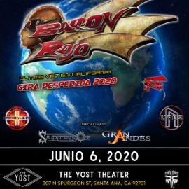 Image for Baron Rojo Ultima Vez en California, Gira de Despedida  En Santa Ana,CA