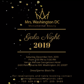 Image for Mrs. Washington DC Gala Night 2019