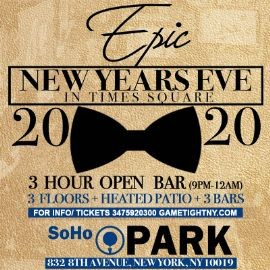 Image for Soho Park New Years Eve NYE 2020