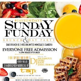 Image for Taj Lounge NYC Hip Hop vs. Reggae™ Sunday Funday Brunch Party