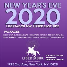 Image for Libertador NYC New Year's Eve NYE Party 2020