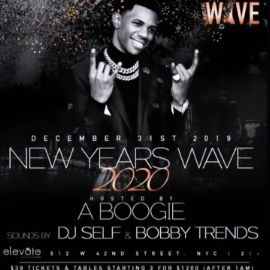 Image for NYE 2020 A Boogie With Da Hoodie Live With DJ Bobby Trends At Elevate