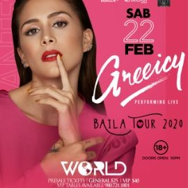Image for Greeicy | Baila Tour 2020 | World Charlotte NC | 02.22.2020