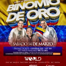 Image for EL BINOMIO DE ORO en Concierto, Charlotte NC NEW CONFIRMED DATE