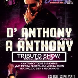 "Image for D'ANTHONY A ANTHONY Show tributo con músicos en vivo! Celebrando ""Valentines""Sabado 15 de Febrero en Johnnys sports bar and Grill Lawrenceville,Ga"