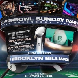 Image for Brooklyn Billiards Superbowl Sunday Viewing party 2020