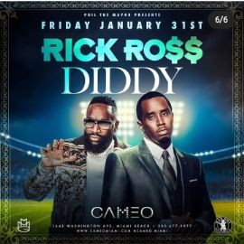 Image for Big Game Weekend Rick Ross & Diddy Live At Cameo Nightclub