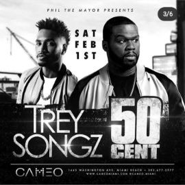 Image for Big Game Weekend Trey Songz & 50 Cent Live At Cameo Nightclub
