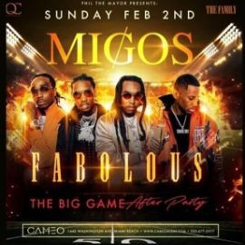 Image for Big Game Weekend Migos & Fabolous Live At Cameo Nightclub