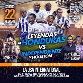 Image for Leyendas de Honduras vs Independiente de Houston