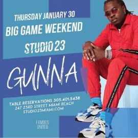 Image for Big Game Weekend Kickoff Gunna Live At Studio 23