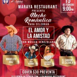 Image for Noche Romantica para celebrar El Amor y La Amistad con Miguelito Diaz, El Canario de Cazorla y mas En Orlando,FL