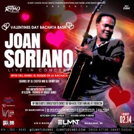 "Image for Valentine's Day Bachata Bash with ""El Duque De La Bachata"" Joan Soriano Live!"