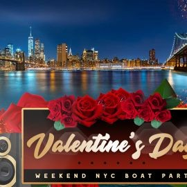 Image for VALENTINE'S DAY YACHT PARTY CRUISE  NEW YORK CITY VIEWS  OF STATUE OF LIBERTY,Cocktails & Music