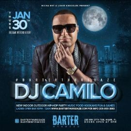 Image for Big Game Weekend Kickoff DJ Camilo Live At Barter Wynwood