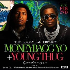 Image for Big Game Weekend Young Thug & Moneybagg Yo Live At Exchange Miami