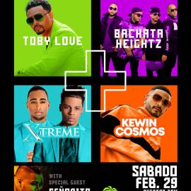 Image for BACHATAZO 2020! #THEUNITEDTOUR! Toby Love, Bachata Heightz, Xtreme & Kewin Cosmos.  @Cococabana!