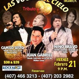 Image for Tributo A Camilo Sesto,Juan Gabriel y Nino Bravo En Orlando,FL