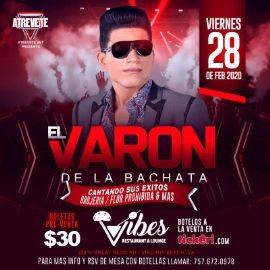 Image for EL VARON DE LA BACHATA EN CONCIERTO EN VIRGINIA BEACH