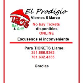 Image for El Prodigio en Trios Lynn Marzo 6