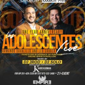 Image for LOS ADOLESCENTES LIVE! Empire Lounge 1 Year Anniversary!