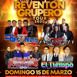 Image for REVENTON GRUPERO:  Grupo Bryndis, Industria del Amor, Fugitivos, El Tiempo en Virginia POSTPONED