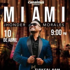 Image for Jhonder Morales en Vivo en Miami!