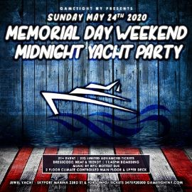 Image for NYC Memorial Day Sunday Yacht Party Cruise at Skyport Marina 2020
