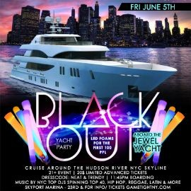 Image for NYC Booze Cruise Glowsticks Yacht Party at Skyport Marina Jewel Yacht 2020