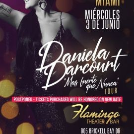 Image for DANIELA DARCOURT EN MIAMI NEW DATE CONFIRMED
