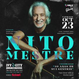 Image for Nito Mestre en Washington DC NEW CONFIRMED DATE