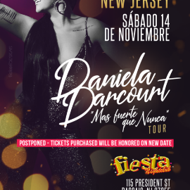 Image for DANIELA DARCOURT EN NEW JERSEY NEW DATE CONFIRMED