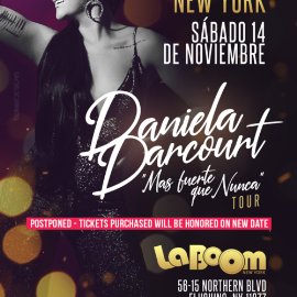 Image for DANIELA DARCOURT EN NEW YORK NEW DATE CONFIRMED