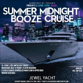 Image for NYC Summer Midnight Booze Cruise Yacht Party at Skyport Marina Jewel 2020