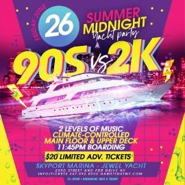 Image for NYC 90s vs 2K Summer Midnight Yacht Party at Skyport Marina Jewel